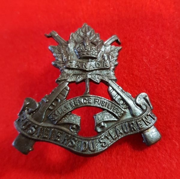 Canadian St. Lawrence Fusiliers Cap Badge
