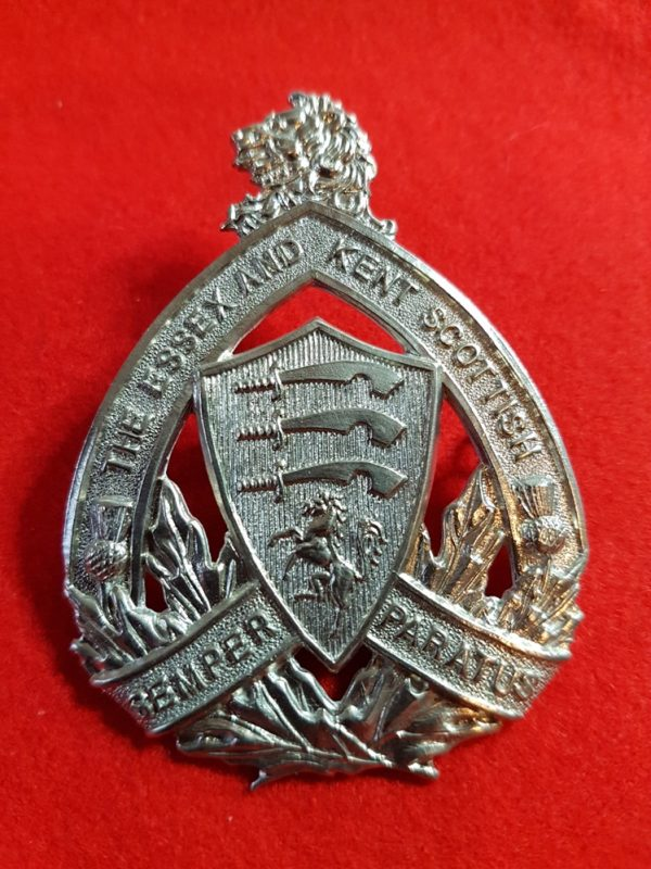The Essex and Kent Scottish Regiment cap badge