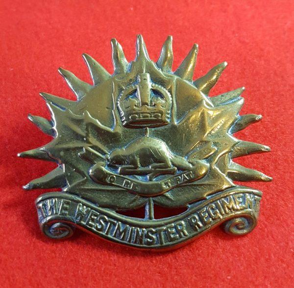 Canadian The Westminster Regiment Cap Badge