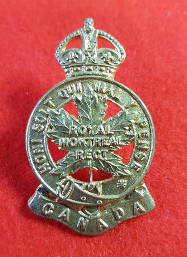Royal Montreal Regiment Cap Badge