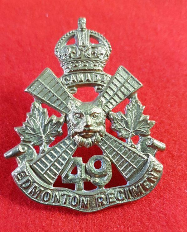 49th Edmonton Regiment Cap Badge