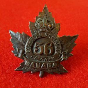 56th Calgary Overseas Battalion Collar Badge
