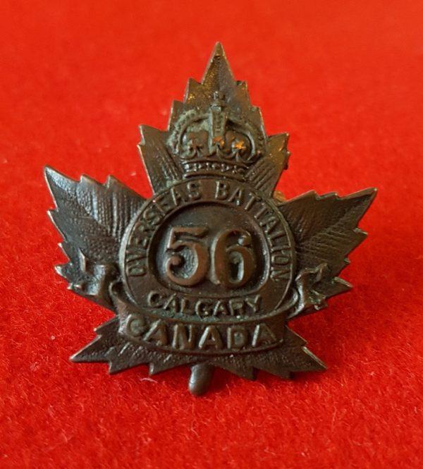 56th Calgary Overseas Battalion Collar Badge
