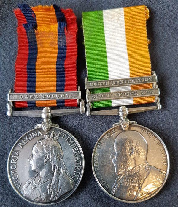 Cheshire Regiment Boer War Medal Pair