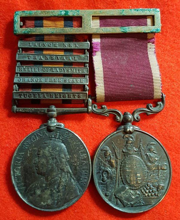 Devon Regiment Victorian LSGC Anglo Boer War Medal Pair