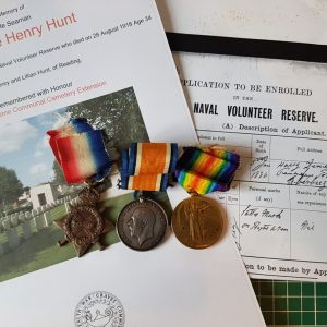 Hawke Battalion Casualty Great War Medal Trio