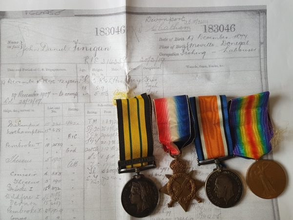 Benin clasp East West Africa and Great War Medals Group
