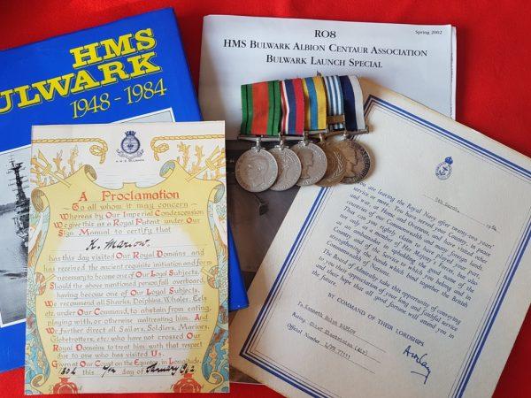 Fleet Air Arm WW2 Korea LSGC Medal Group