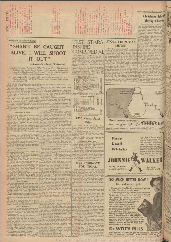 DUNDEE EVENING TELEGRAPH 11th January 1947