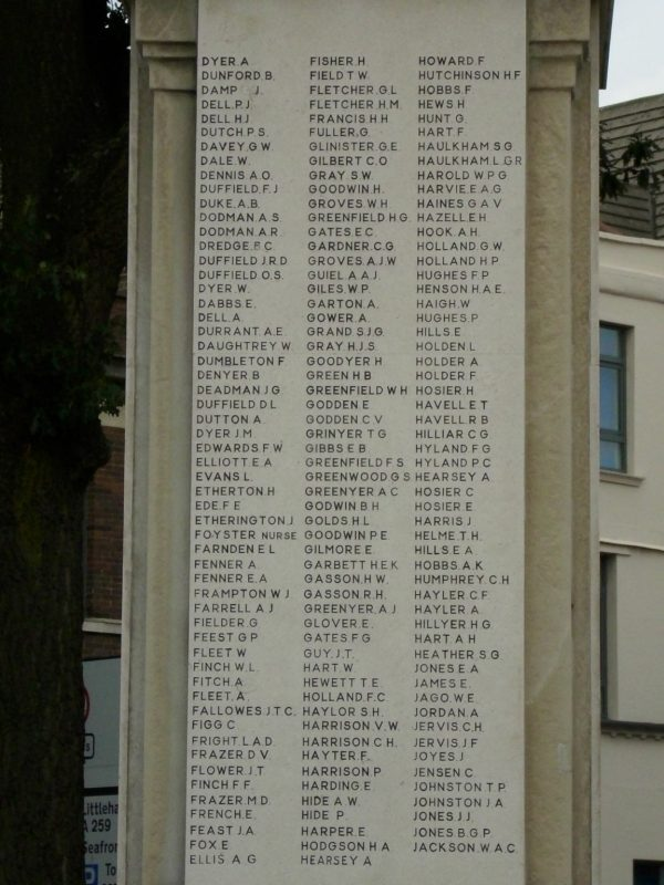 Worthing West Sussex War Memorial