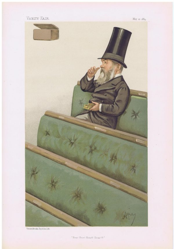 Charles Nicholas Warton Vanity Fair Print 1884