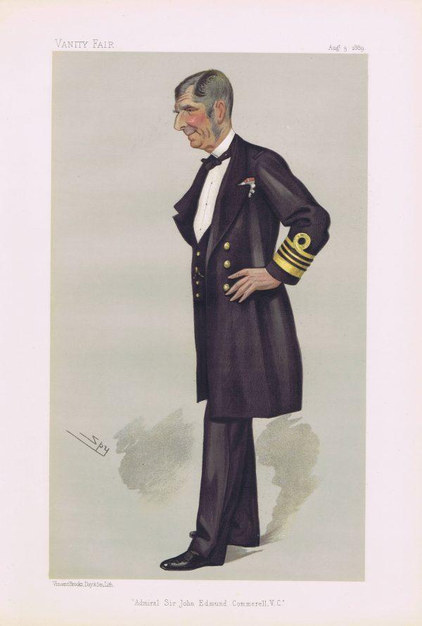 Admiral Sir John Edmund Commerell Vanity Fair Print