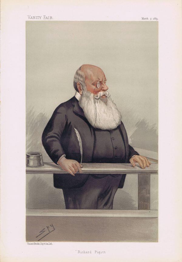 Richard Pigott Vanity Fair Print