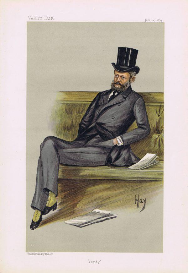 Baron Ferdinand James De Rothschild Vanity Fair Print