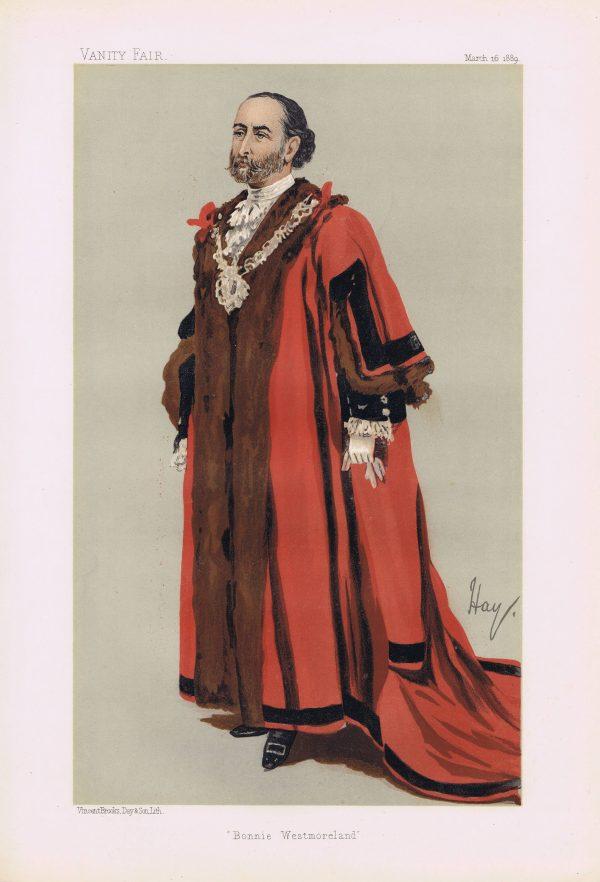 James Whitehead Vanity Fair Print 1889