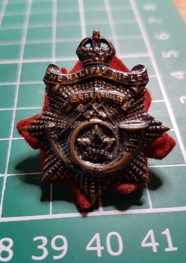 The Halifax Rifles Collar Badge