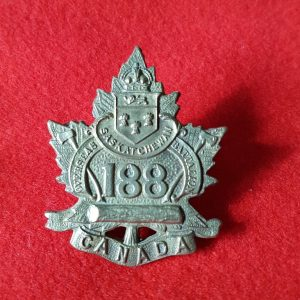 SASKATCHEWAN OVERSEAS BATTALION Cap Badge