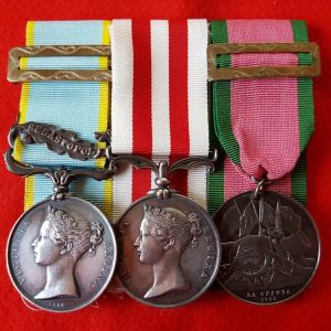 Crimea Medal and Indian Mutiny Medal Trio
